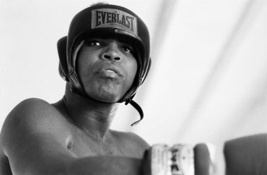 Classius Clay (Muhammad Ali) seen here at his training camp  Deer Lake in Pennslvania. Ali is in training for his fight with George Foreman. 27th August 1974