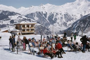 Skiers at Courchevel